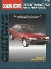 Chevrolet Prizm and Nova, 1985-93 by Chilton Automotive Editorial Staff...