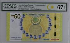 "Malaysia, Bank Negara """"Commemorative"""", 60 Ringgit KNB84 2017 # MRR 000 3230"