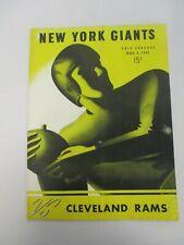 NOV 4, 1945 NEW YORK GIANTS vs CLEVELAND RAMS POLO GROUNDS FOOTBALL PROGRAM
