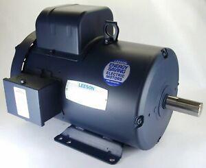 5HP 3450RPM 184T 1PH TEFC 230V LEESON ELECTRIC MOTOR #132042