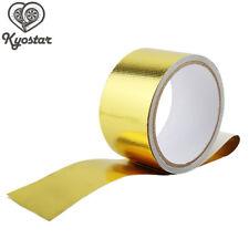 Gold Heat Shield Wrap 5CM Tape Car Intake Intercooler Pipe Reflective Insulation