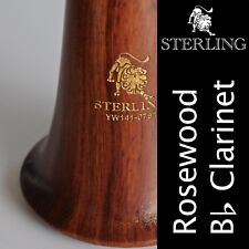 ROSE WOOD Bb CLARINET  • STERLING Pro-Quality Wooden • Brand New • FREE EXPRESS!
