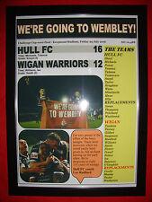 Hull FC 16 Wigan Warriors 12 - 2016 Challenge Cup semi-final - framed print