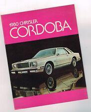 1980 CHRYSLER <CANADA> CORDOBA Brochure/opuscolo: CORONA, Cabriolet