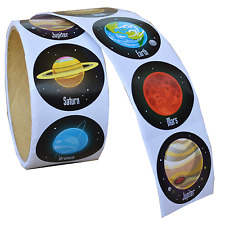 100 Solar System Stickers|Space Party|Party Favours|Party Bag Fillers