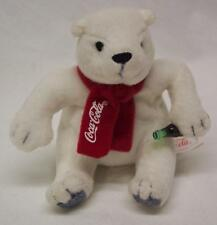"Coca-Cola MINI COKE POLAR BEAR 4"" Plush STUFFED ANIMAL TOY"