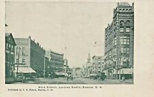 Nashua Nh ~ Principal Street-Looking Norte ~ F E Nelson Publicado 1900s Postal