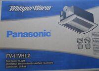 Panasonic Bathroom Fan Heater With Light Combo FV-11VHL2 110CFM
