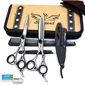 "Barber Salon Hairdressing Shears Hair Cutting Scissors Thinning Set 5.5-6.5"""