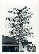 1981 City Distance Sign Spring Hill Hernando County Florida Press Photo
