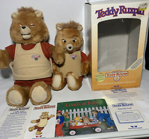 Teddy Ruxpin Authentic In Box & Extra Teddy Ruxpin Lot Of 2 Vintage For Repair