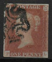 SG9  1d.Pale Red-Brown With Neat Maltese Cross. 3 Even Margins.  Ref:0642