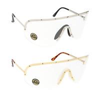 Oversized Shield Aviator Clear Lens Eyeglasses Gold Silver Frame Women Fashion