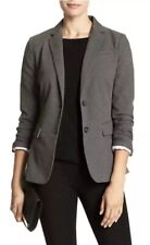 NWT Banana Republic Charcoal Tailored Twill Blazer / Suit/ Lined, Gray Size 2