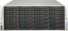 Supermicro 4U Freenas ZFS Unraid Server Xeon 12 Cores 2.1ghz 16GB 24x Trays RAIL