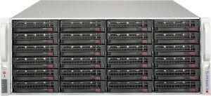 Supermicro 4U Freenas ZFS Unraid Server Xeon 20 Cores 2.5ghz 64GB 24x Trays RAIL