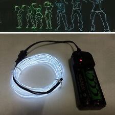 5 M flash flessibile luce al neon luminosi EL striscia tubo fune BATTERIA CASE wniu IT