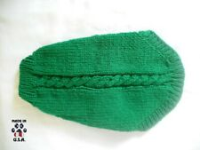 Green cable knit sweater for dogs-size Small-handknit in USA