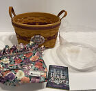 Longaberger 1997 May Series PETUNIA BASKET WITH Protector Liner Tie-on