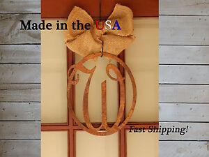 Oval Monogram Door Hanger -Door Sign - Last Name Initial - Indoor/Outdoor DS1004