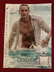 Nautica Oceans Men's Cologne 2009 Ad/Poster Promo Art Ad