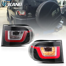 For 2007-2014 Toyota FJ Cruiser LED Tail Lights Brake Clear Land Rover Style