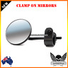 Black 22mm 25mm clamp on round mirrors Harley dyna softail sportster bobber XL