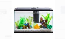 Aquarium Kit 10 Gallon Fish Tank Aquarium Fish Tank Led Light Hood Filter Clear
