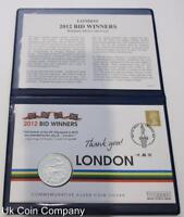2005 £2 Britannia 1oz Fine Silver £2 Two Pounds Coin 2012 Bid Winners FDC Cover
