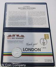 2005 £2 Britannia 1oz Fine Silver £2 Two Pounds Coin 2012 Bid Winners FDC Cover