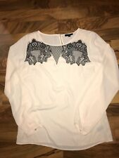 The Limited Sheer Pink Lace Top Small NEW NWT