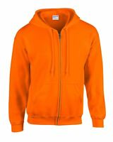 Men's Heavy Blend Gildan Plain Zipped Hoodie - Adult Full Zip Hooded Sweatshirt