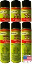 QTY6 Polymat 777 FABRIC LINER SPEAKER BOX CARPET UPHOLSTERY SPRAY GLUE ADHESIVE