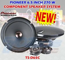 "PIONEER TS-D65C 6.5"" COMPONENT SPEAKER SYSTEM 270 WATTS MAX WOOFER + TWEETER"
