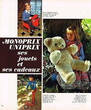 PUBLICITE ADVERTISING 015  1975   MONOPRIX UNIPRIX  les jouets & cadeaux
