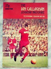 Signed Ian Callaghan Testimonial Programme: Liverpool FC - Matt Busby Autograph+