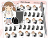 Wheelie Bin Collection Planner Stickers - Journal, Diary, Scrapbook, Stationery
