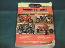 Clymer Technical Data Service and Repair Specifications 2002 CTD100
