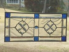Blue, Aqua Stained glass and Beveled Panel!