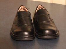 Laoks Mens black leather slip on Loafers size 7 US, 25.5 Japan