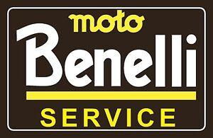"4"" x 3"" Vintage look Benelli Service Vinyl Decal Sticker Moto Benelli Motorcycle"