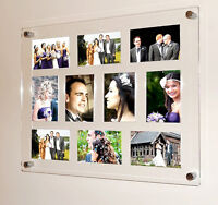 """All colours Cheshire Acrylic magnetic 7x5 /5 x 7 """" multi picture photo frame"""
