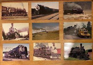 24 Vintage Train & Railway Postcards - Lot / Bundle - All Pictured - America