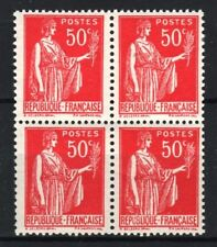 "FRANCE STAMP TIMBRE 283 s "" PAIX 50c FAUX DE BARCELONE BLOC 4"" NEUF xx LUXE R763"