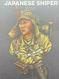 TINY LEADS MINIATURES 1:10 WWII JAPANESE SNIPER - RESIN MODEL KIT BUST
