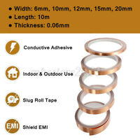 10M * 20mm  Adhesive Conductive Copper Foil Tape Screening Guitar EMI