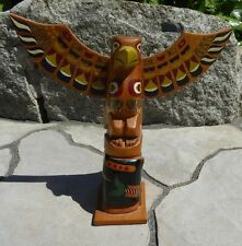 """Northwest Coast Native Eagle Whale 9""""  OLD Totem Aboriginal Indigenous"""