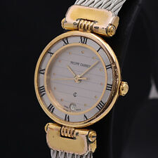 Philippe Charriol Watch 62.6.0711   Quartz 18K Gold Plated Date   T3847