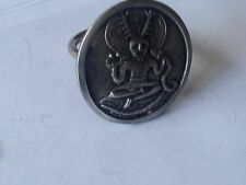 Cernunnos code dr81 Emblem Made From English Pewter on a Scarf Ring