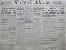 3-1934 March 17 DILLINGER JAIL BREAK YOUNGBLOOD GANGSTER MOB NY TIMES FDR HOOVER